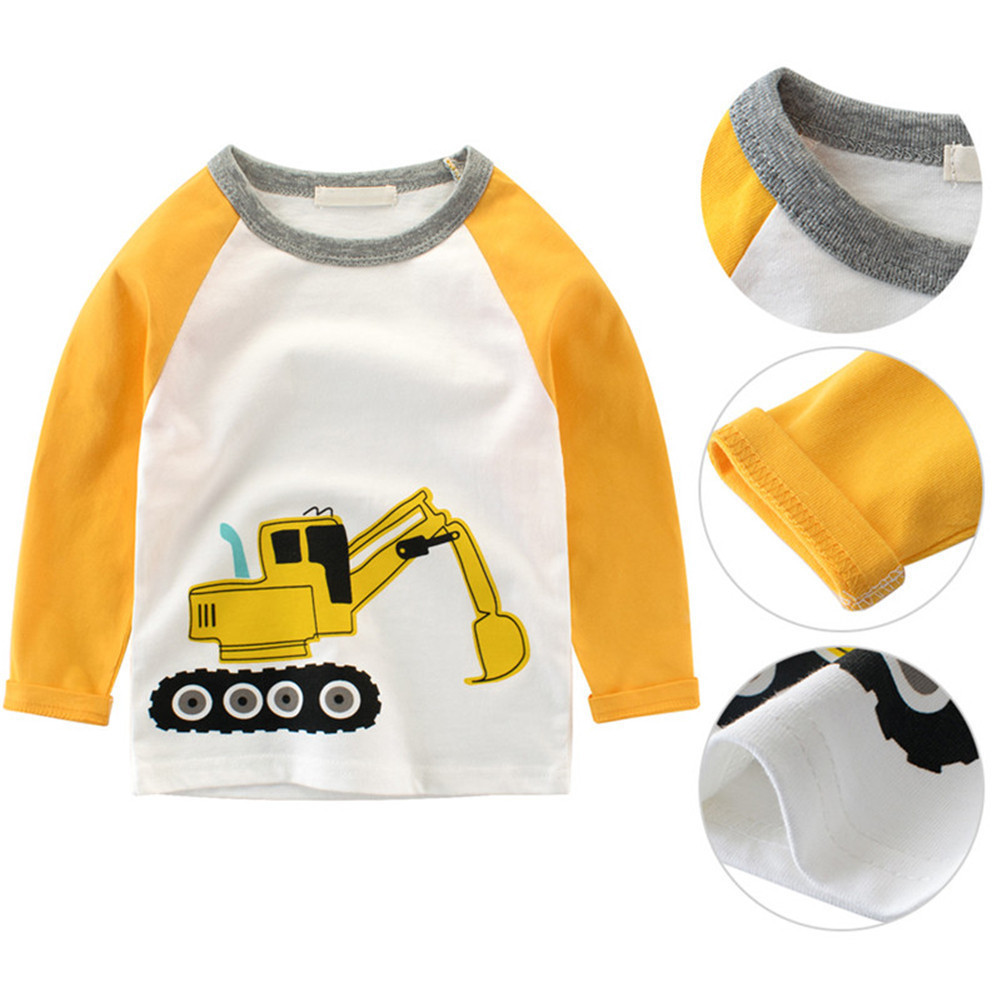 Children Tees baby Girls boys Cartoon long sleeve T-shirt kids clothes Fashion T-shirts for girls boys tops clothing 2 types