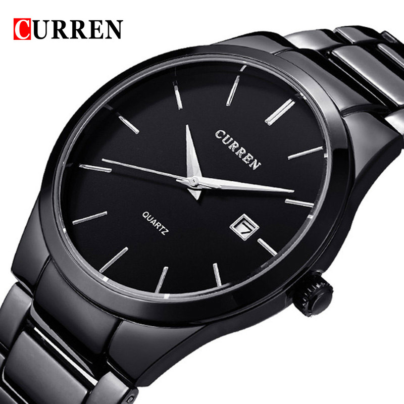 Top Luxury Brand CURREN Men Full Stainless Steel Business Watches Men&39;s Quartz Date Clock Men Wrist Watch relogio masculino