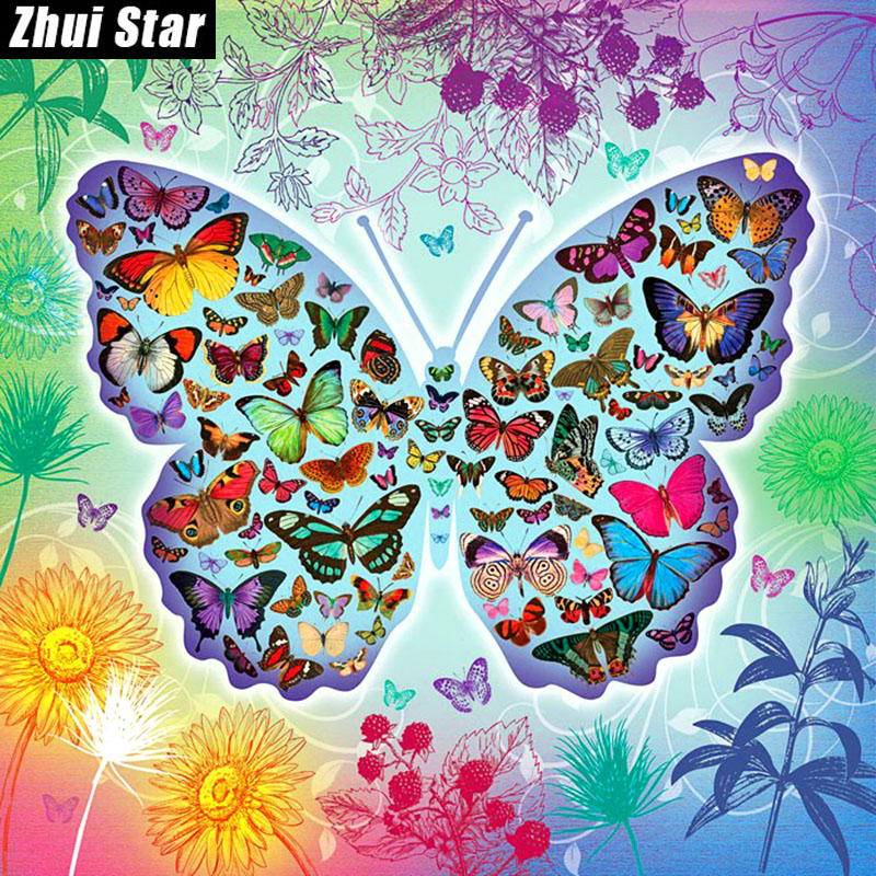 Full Square Diamond 5D DIY Diamond Painting Beautiful butterfly 3D Embroidery Cross Stitch Rhinestone Mosaic Painting Decor BK