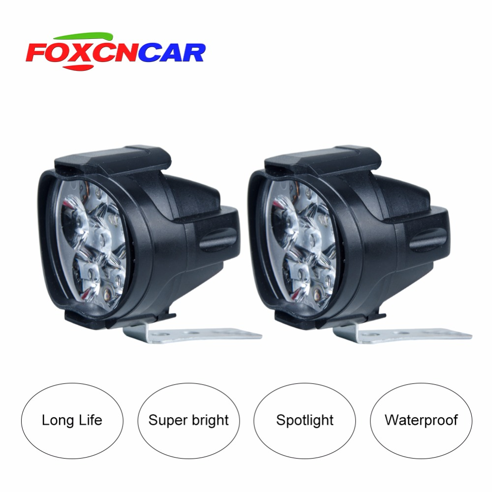 Led ampul 1000Lm Motos Led Phare Lampe Scooter Phares Anti-Brouillard Spot 6500 K Blanc de Travail Spot Işık 9-85 V 16 W